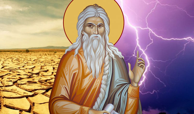 Seceta și ploaia, simboluri ale puterii Sfântului Ilie
